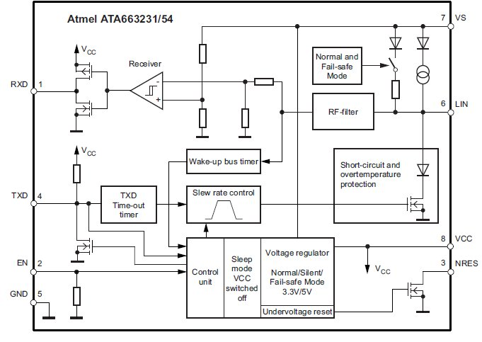 Блок-схема. ATA663254, 4-е